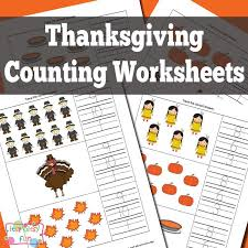 Thanksgiving Counting Worksheets   Thanksgiving Activities for Kids ...