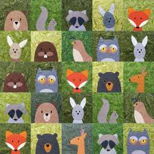 Quilt Patterns Gorgeous Woodland Critters Quilt Pattern Shiny Happy World
