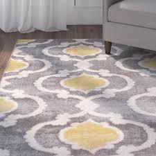 amazing andover mills melrose grayyellow area rug reviews wayfair in yellow gray area rug modern