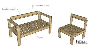 diy outdoor sofa plans. build your own outdoor seating from 2x4\u0027s with these free and easy plans on hertoolbelt. diy sofa