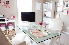 chic office space. Bonnie Bakhtiari Pink Chic Home Office Tour Space