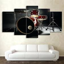 >drum set wall art drumset metal wall art drum kit wall art  drum set wall art modern 5 piece canvas art music drum kit painting modular wall pictures drum set wall art front view metal
