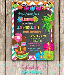 Tropical Party Invitations Hawaiian Birthday Party Invitations Best Luau And Pool Party Ideas