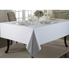 wamsutta 70 round regency white tablecloth 100 cotton seats