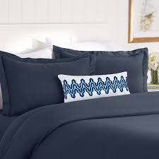 celine linen wrinkle fade resistant 3 piece duvet cover set 1500 series 100 hypoallergenic silky soft full queen navy blue com