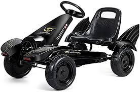 COSTWAY <b>Go</b>-<b>Kart with Adjustable</b> Seat, <b>Go Cart</b> with Brakes, <b>Pedal</b> ...