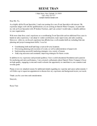 communications specialist resume cover letter communication