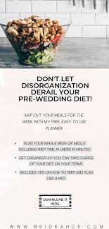 Wedding Meal Planner Map Out A Healthy Meal Plan For The Entire Week Without