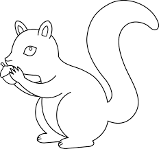 Squirrel Coloring Page Clipart Clip Art Images 8559