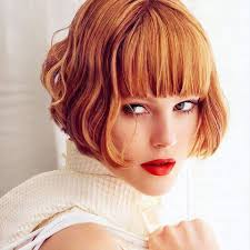 the blunt bob with a short fringe is a great short haircut for thick hair