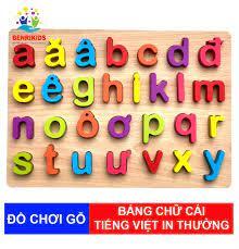 Đồ Chơi Trẻ Em Bảng Chữ Cái Tiếng Việt Viết Thường Bằng Gỗ Benrikids Cho Bé  Chuẩn Bị Bước Vào Lớp 1 Đồ Chơi Giáo Dục Trẻ Em Đồ Chơi Gỗ An