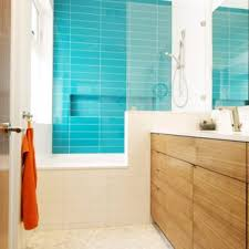 Modern bathroom shower ideas Design Ideas Bathroom Modern Kids Blue Tile Pebble Tile Floor Bathroom Idea In San Francisco With Houzz Small Space Shower Modern Bathroom Ideas Houzz