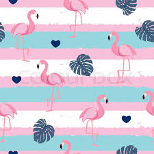 Flamingo Pattern Classy Cute Retro Seamless Flamingo Pattern Background Vector Illustration