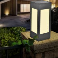 Pillar Solar Lights For Outdoors Us 15 09 20 Off Solar Pillar Light Garden Light Waterproof European Garden Villa Courtyard Coffee Light Outdoor Wall Door Pillar Lamp In Solar Lamps