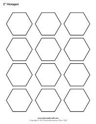 Blank Hexagon Templates | Printable Hexagon Shape PDFs & Printable Hexagon Outline Adamdwight.com