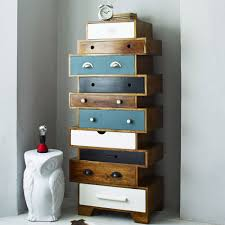 Tallboy Bathroom Cabinets With Alternating Drawers The New Mango Wood Cabinet Is A Quirky