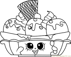 Small Picture Banana Splitty Shopkins Coloring Page Free Shopkins Coloring