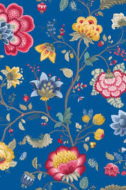 Floral Fantasy Behang Donkerblauw Pip Studio The Official Website