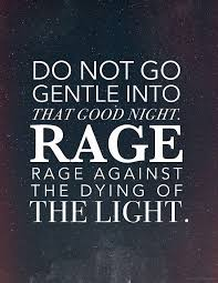 Rage Quotes New I've Always Loved This Poem I Was Happy To Hear It Used In