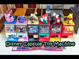 Toys For Vending Machines Inspiration Miniature Disney Vending Machine Capsule Toy YouTube