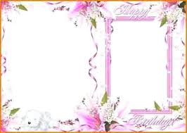 Birthday Card Template With Photo Happy 4 7 Greeting Psd Free