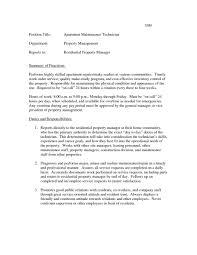 Maintenance Supervisor Job Resume Description Template Duties