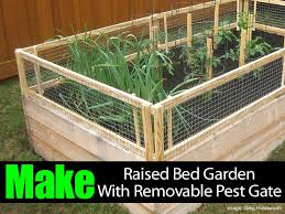 how to make a raised bed garden. How To Make A Raised Bed Garden With Removable Pest Gate G