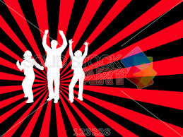 Radial Red Stock Illustration Of Three Youth Dancing Radial Red And Black