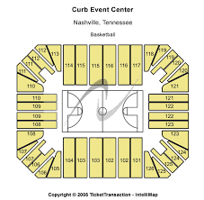 Belmont Charts Curb Event Center Seating Charts For All 2019 Events