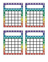 Rainbow Polka Dot Incentive Charts