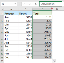 a ulative sum chart in excel