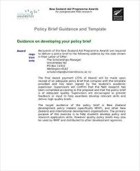 policy templates 14 policy brief templates and examples pdf doc examples