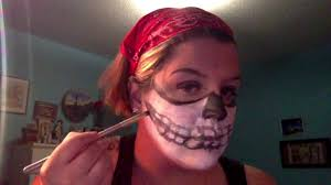 skeleton biker makeup video