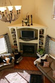 corner fireplace designs with shelves fire place and pits