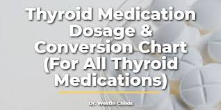 Thyroid Dosage Chart Thyroid Medication Dosage Conversion Chart For All