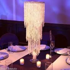 centerpieces wedding table top chandelier centerpieces kit complete kit for 8 centerpieces for only 599 00