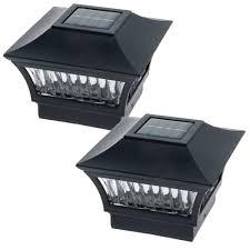 Led Post Cap Lights 4x4 Greenlighting Black Aluminum Solar Post Cap Light 4x4 Wood 6x6 Pvc 2 Pack