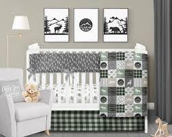rustic crib bedding set bear moose deer