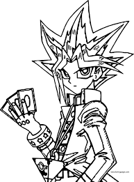 I don't own yugioh, which is okay, because i've watched the show for over a year and can't play the game to save my life. Coloring Page Yu Gi Oh