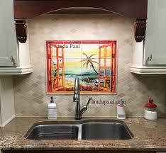 Tile Murals For Kitchen Florida Tile Mural Backsplash Tiles Palm Tree Art Tiles