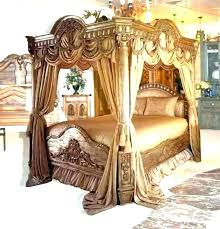 Full Size Canopy Bed Frame Impressive Full Canopy Bed Frame With ...