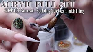 sculpted sti acrylic nails full