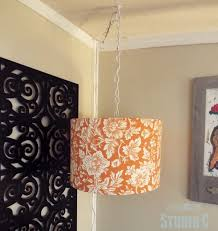 diy hanging light and lamp shade perfect for that dark corner