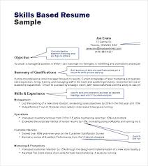 Skills Based Resume Templates Commily Com