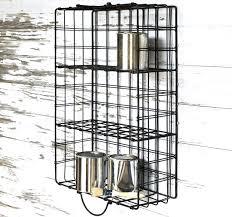 metal wire basket wall shelf