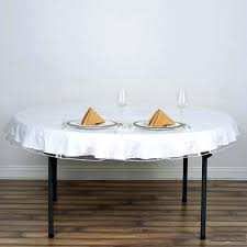 70 round vinyl tablecloth friendly clear disposable x cover