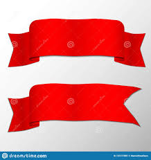 Folding Ribbon With Shadow Stock Vector Illustration Of