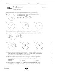 10 7 areas of circles and sectors form g answers winterrowd math geometry b quarter 3