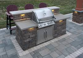 kitchen outdoor kits patio with stainless steel barbeque