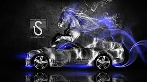 ford mustang gt fantasy horse smoke car